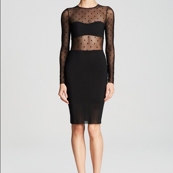 Bec & Bridge Dresses & Skirts - Bec & Bridge Dress Night Rider Polka Dot Illusion
